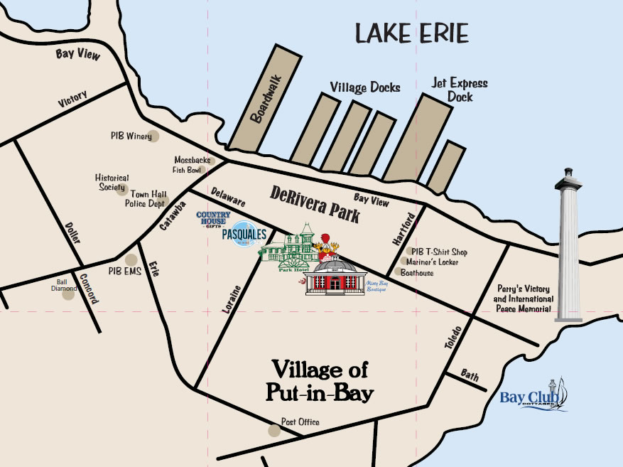 Map of downtown PIB